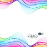 Linha de coloração ondas que misturam-se junto Fundo do vetor Foto de Stock Royalty Free
