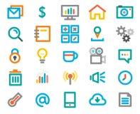 Linha de cor grupo do ícone. Ilustração do vetor Fotografia de Stock Royalty Free