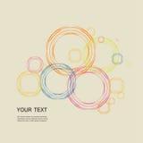 Linha de cor Projeto eps do círculo Imagens de Stock Royalty Free