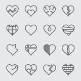 Linha de coração ícone ilustração do vetor