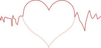 Linha de coração ilustração royalty free