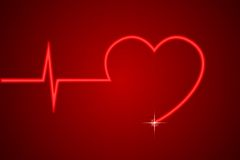Linha de coração Imagem de Stock