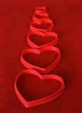 Linha de corações Fotografia de Stock