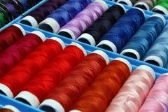 Linha de costura colorida Fotos de Stock Royalty Free