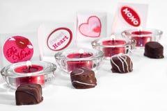 Linha de deleites do dia do Valentim Foto de Stock Royalty Free
