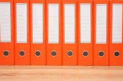 Linha de dobradores do escritório Imagem de Stock Royalty Free