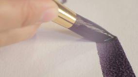 Linha de Draws Long Wide do desenhista com escova de tinta preta ilustração royalty free