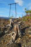 Linha de Electropower Fotos de Stock Royalty Free