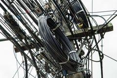 Linha de eletricidade foto de stock