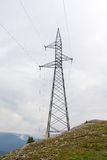 Linha de eletricidade do poder Foto de Stock
