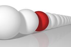 Linha de esferas Fotografia de Stock