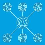 Linha de espalhamento pictograma do email Foto de Stock Royalty Free