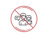 Linha de fala ícone dos povos Sinal da conversação Vetor ilustração do vetor