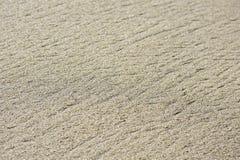 Linha de fluxo espaço natural Textured da cópia da areia da praia Foto de Stock