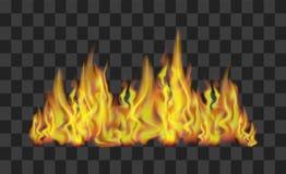 Linha de fogo no fundo transparente Vetor Fotos de Stock Royalty Free