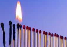 Linha de incêndio Imagens de Stock