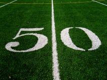 Linha de jardas 50 Fotografia de Stock Royalty Free