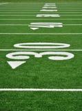 Linha de jardas trinta no campo de futebol americano Imagem de Stock Royalty Free