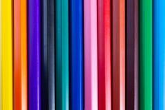 A linha de lápis brilhante da cor é usada como imagens de fundo imagens de stock royalty free