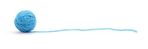 Linha de lã azul Imagens de Stock Royalty Free