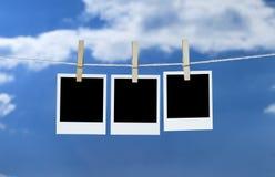Linha de lavagem Fotografia de Stock