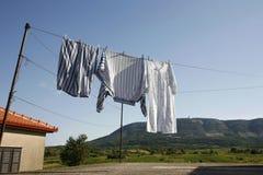Linha de lavagem Imagens de Stock