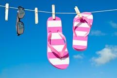 Linha de lavagem do feriado Fotografia de Stock Royalty Free