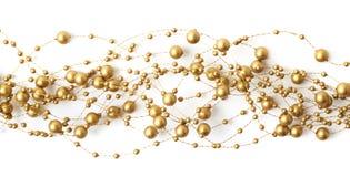 Linha de linha da festão dos grânulos isolada Imagens de Stock Royalty Free