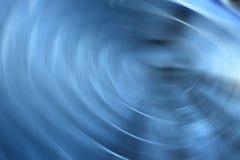 Linha de luzes de giro azul abstrata fundo Fotografia de Stock Royalty Free