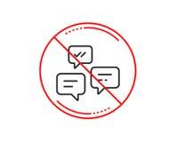 Linha de mensagens ícone do bate-papo Conversação ou SMS Vetor ilustração royalty free