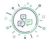 Linha de mensagens ícone do bate-papo Conversação ou SMS Vetor ilustração stock