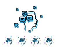 Linha de mensagens ícone do bate-papo Sinal da conversação ilustração royalty free
