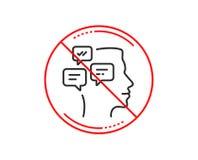 Linha de mensagens ícone do bate-papo Sinal da conversação Vetor ilustração do vetor