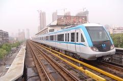 Linha 1 de metro de Wuhan imagens de stock