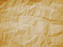 Linha de papel amarrotada fundo Imagens de Stock