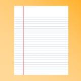 Linha de papel do separador e linha rupturas Fotos de Stock