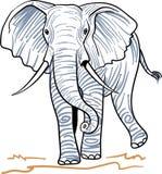 Linha de passeio arte do elefante ilustração do vetor
