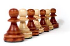Linha de penhores de madeira Imagem de Stock Royalty Free
