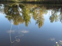 Linha de pesca na água Foto de Stock