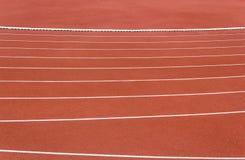 Linha de pista de atletismo Imagem de Stock Royalty Free
