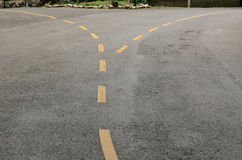 A linha de pistas de tráfego Fotografia de Stock