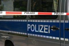Linha de polícia Imagem de Stock