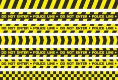 Linha de polícia das fitas de advertência Fotografia de Stock