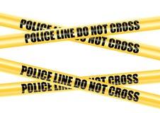 A linha de polícia não cruza a fita ilustração do vetor