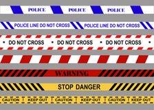 Linha de polícia Não cruze aviso Pare o perigo ilustração royalty free
