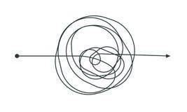 Linha de processo de pensamento complicada projeto do ícone ilustração do vetor