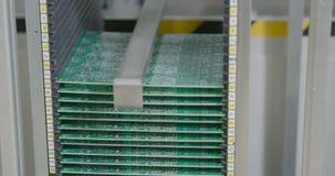 Linha de produção close up do PWB PWB verde filme