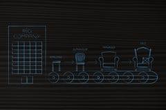 Linha de produção da empresa com níveis diferentes da hierarquia u Fotografia de Stock