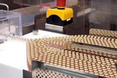 Linha de produção da insulina Liberação industrial da insulina nos cartuchos Cartucho da insulina para diabéticos Cartucho 3 ml d Foto de Stock