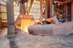 Linha de produção derretida da fornalha de fundição do ferro das fresas de aço Fotos de Stock